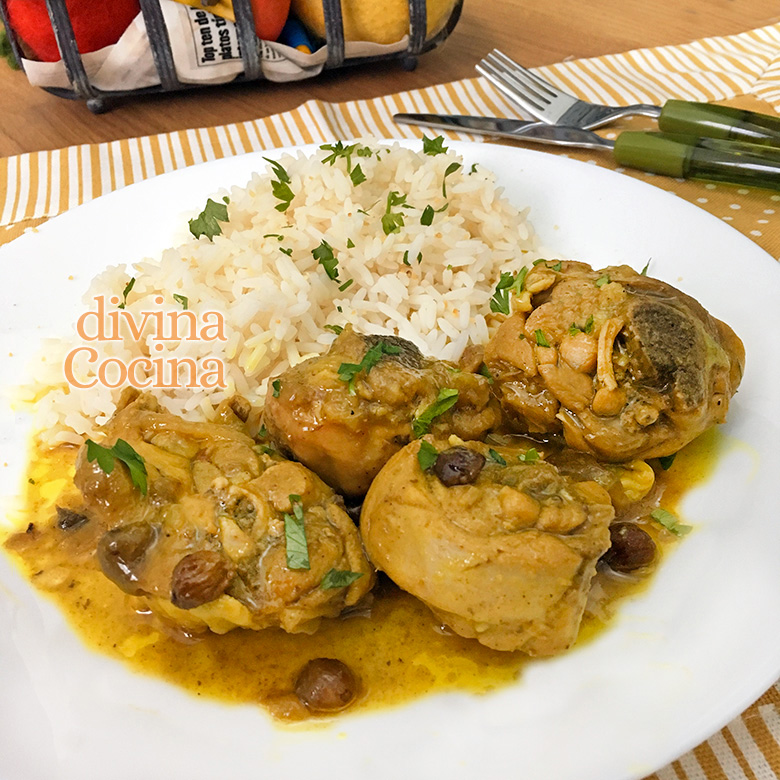 pollo guisado al curry