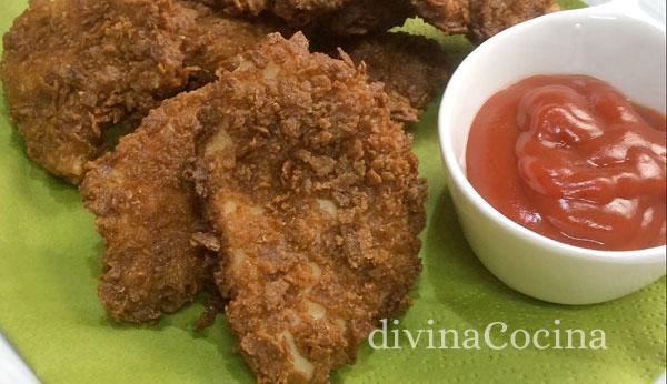 pollo rebozado corn flakes