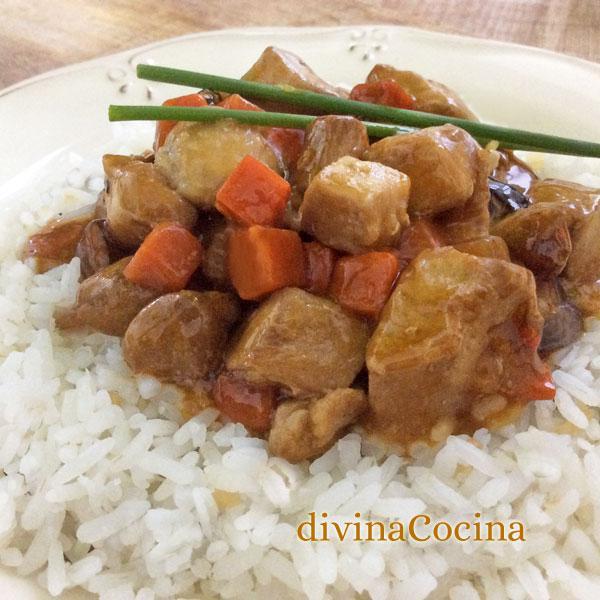 pollo teriyaki fácil con ingredientes sencillos