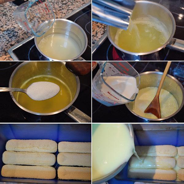 pudding de limón paso a paso