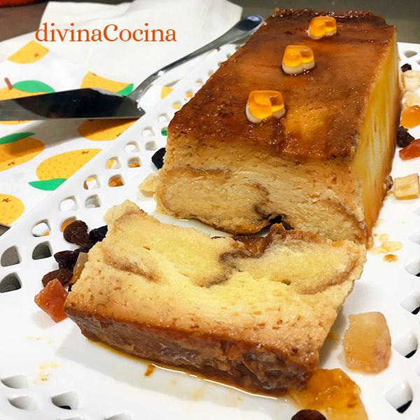 pudding de pan de molde