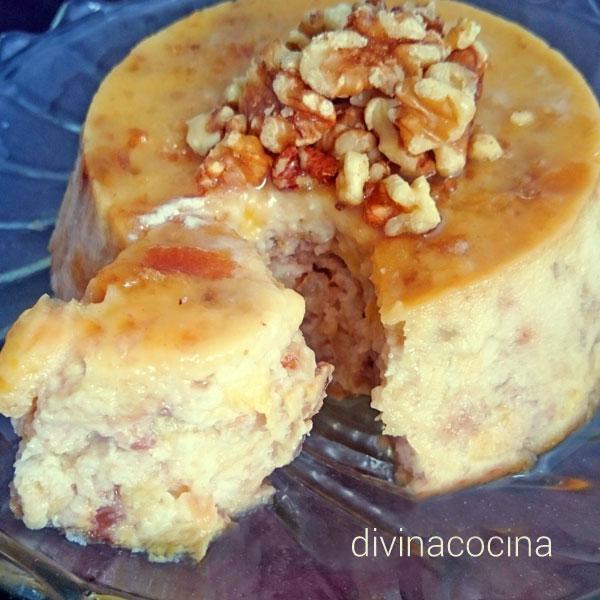pudding-de-platano-y-nueces