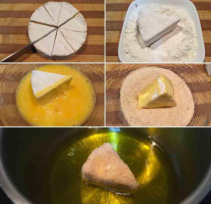 receta queso camembert frito