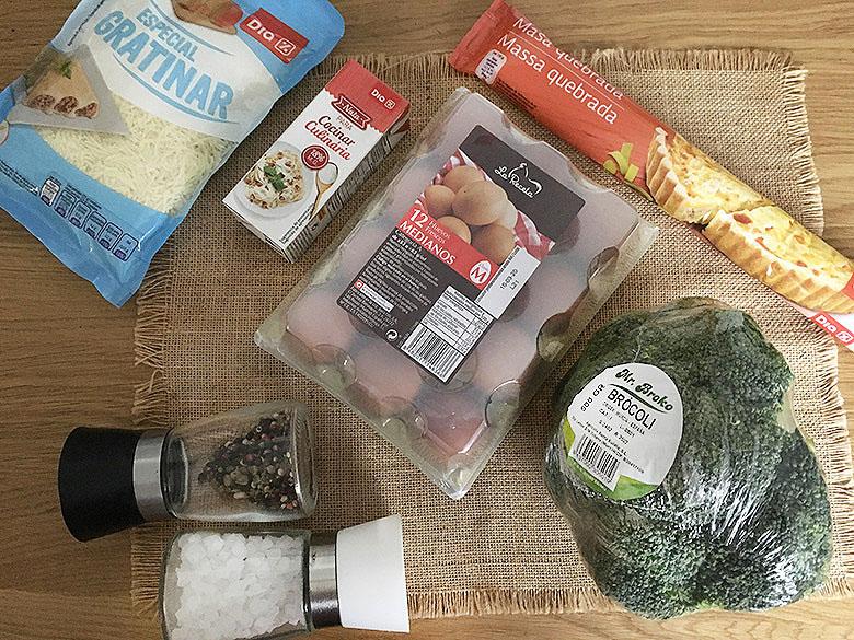 ingredientes quiche brocoli
