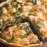 Quiche de salmón y espinacas