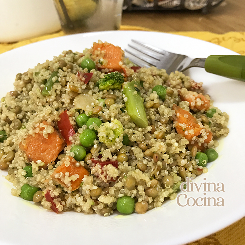 quinoa verduras