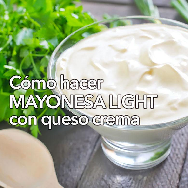mayonesa light con queso crema