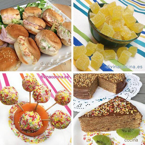 10 recetas fáciles para fiestas infantiles - Divina Cocina