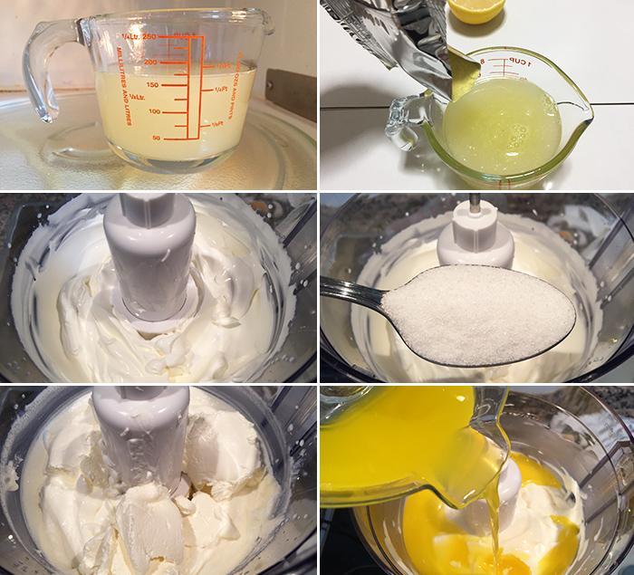 relleno charlota limon paso a paso