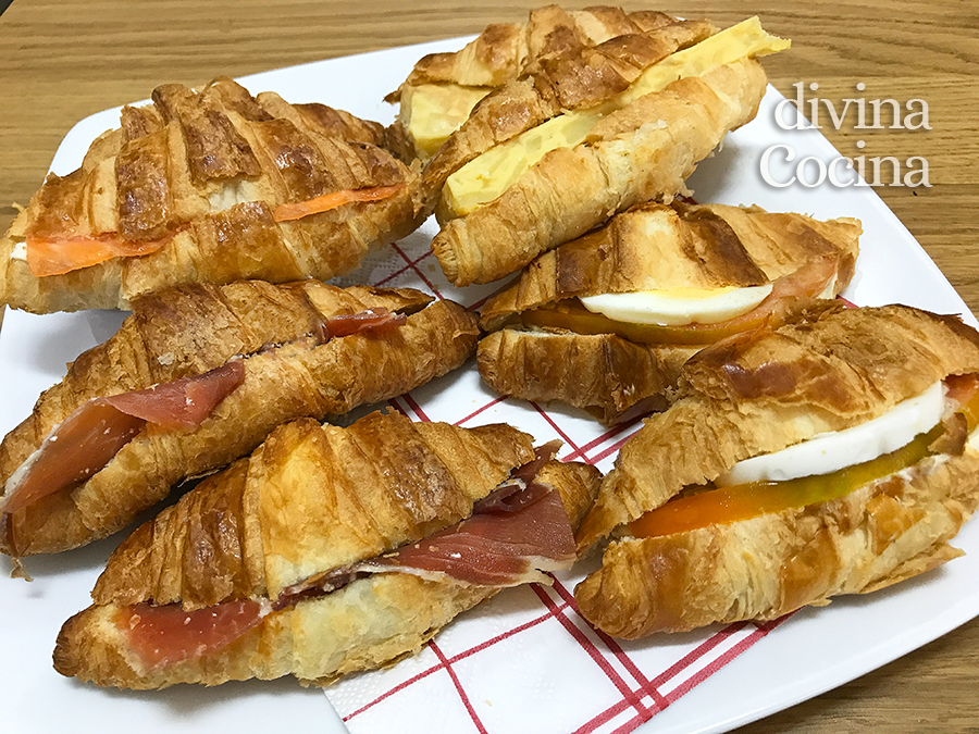 mini croissants salados