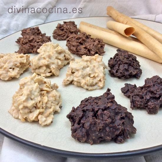 Rocas de barquillos o galletas