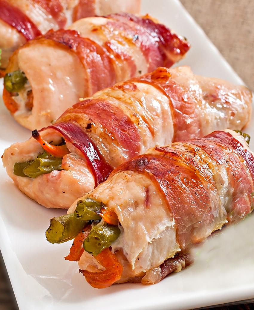 receta de involtini de pollo y verduras