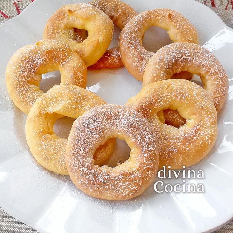 Receta de Roscos de Natillas fáciles y rápidos - Divina Cocina