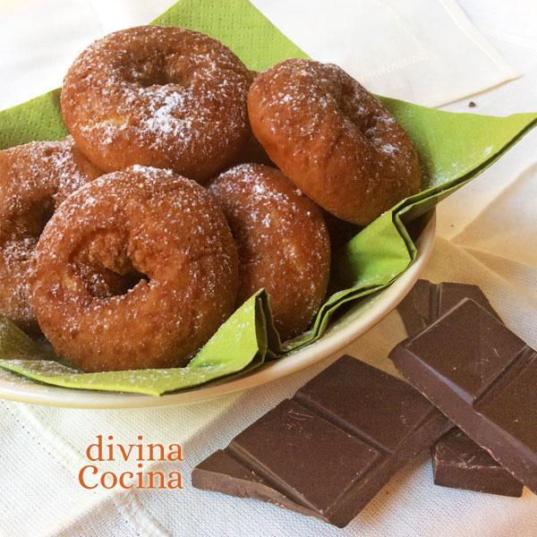 rosquillas de chocolate