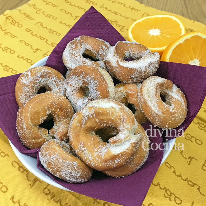 rosquillas de aceite de oliva y naranja
