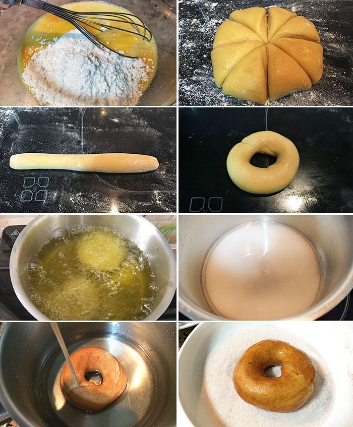 rosquillas con flan de sobre
