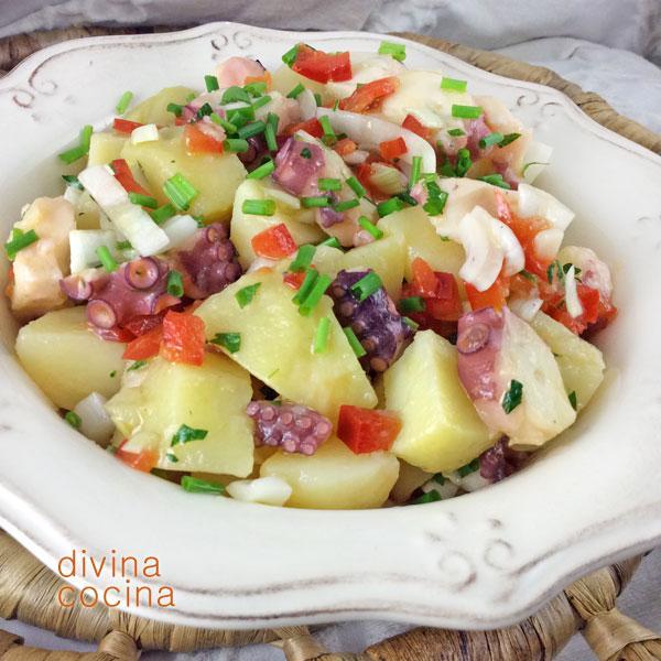 Salpicón de pulpo con patatas