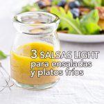 3 salsas light para ensaladas y platos fríos