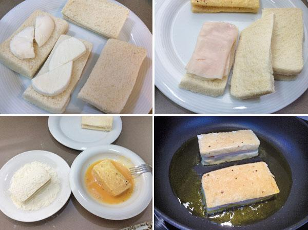 sándwich de queso a la sartén paso a paso