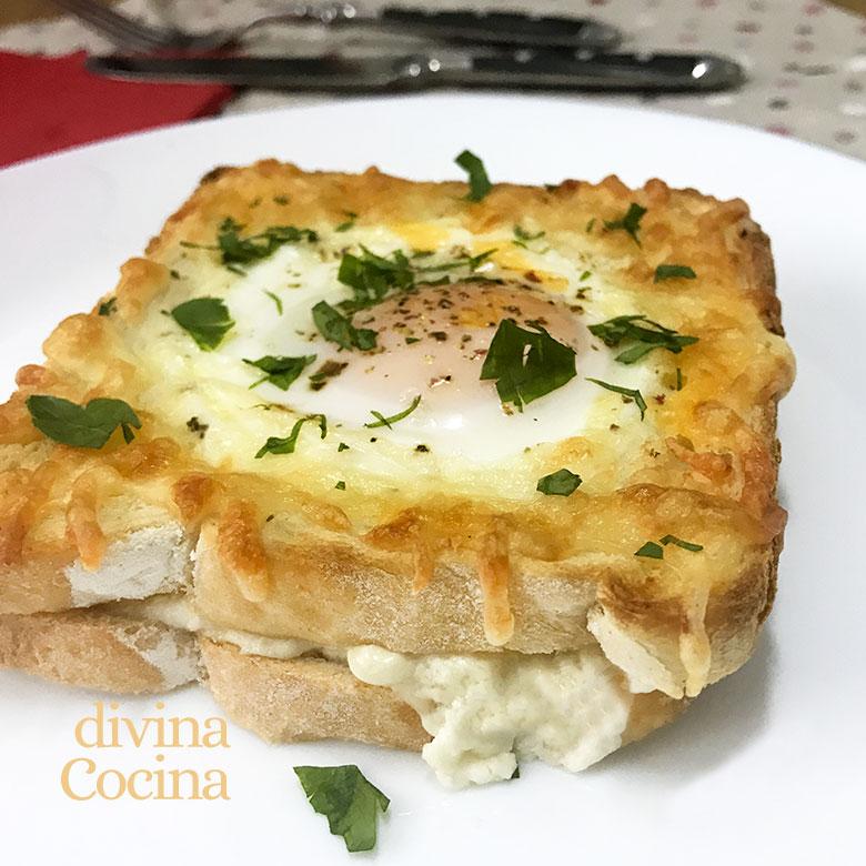 sandwich mixto con huevo