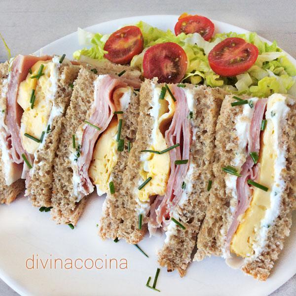 Sándwich mixto con tortilla