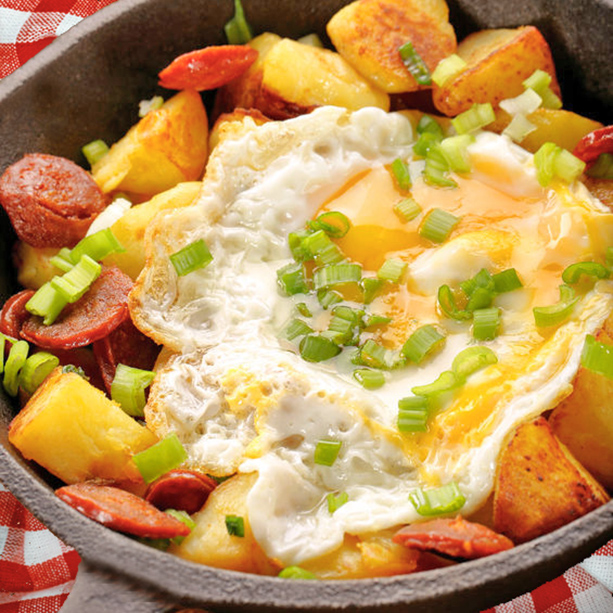 receta de sarten de huevos camperos