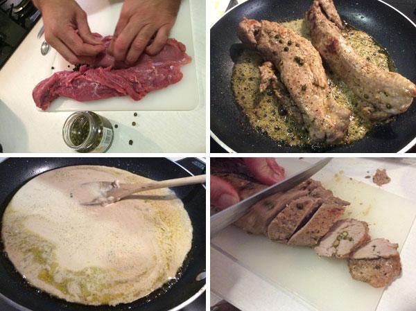 receta de solomillo a la pimienta verde
