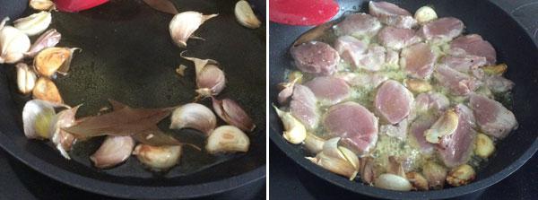 puntas de solomillo en salsa al ajillo paso a paso