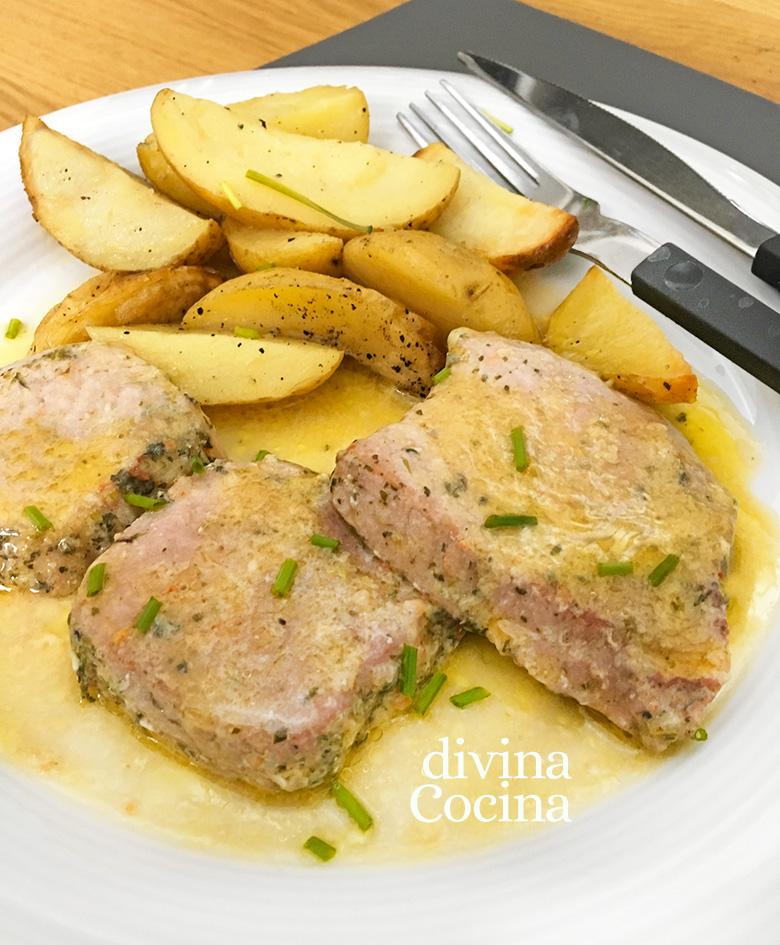 Receta de Solomillo de cerdo al vino blanco - Divina Cocina