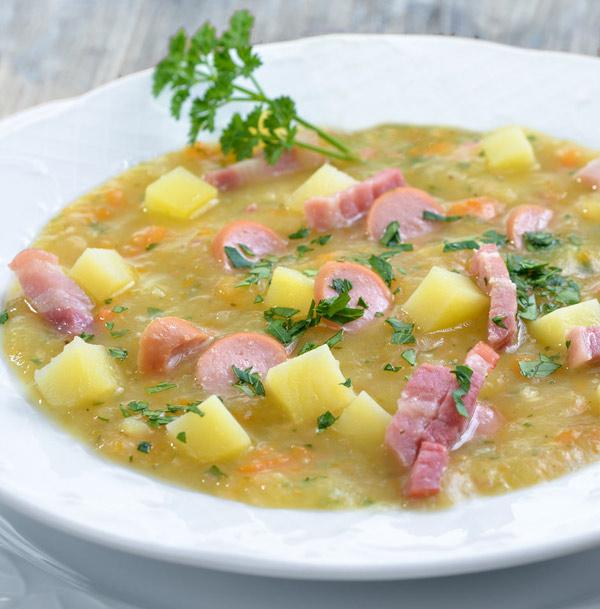 sopa de patata estilo alemán