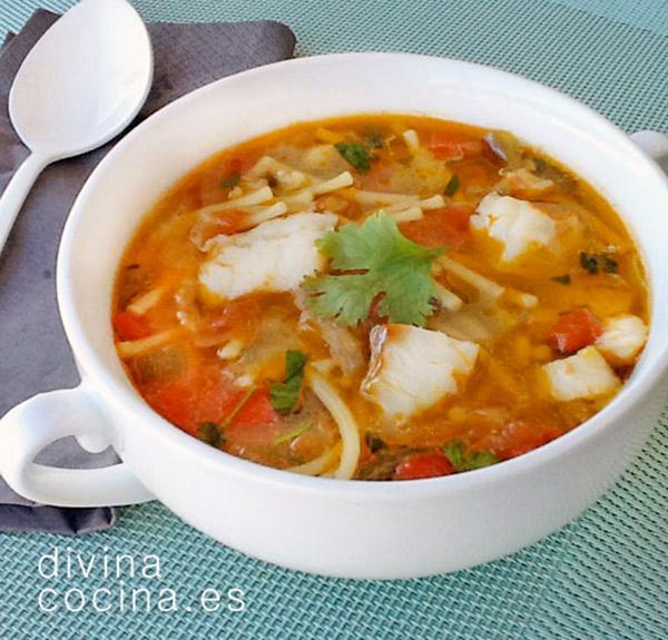 Sopa De Pescado Fácil Receta De Divina Cocina