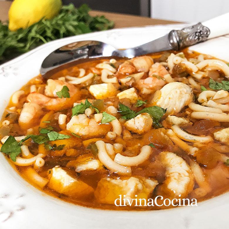 sopa de pescado facil