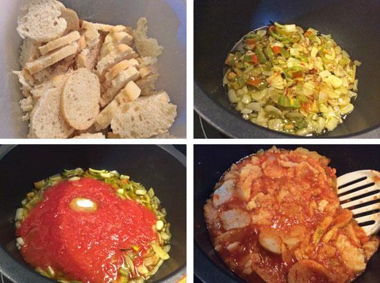 sopa de tomate paso a paso