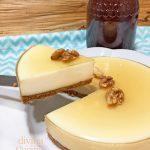 Tarta de cuajada y yogur con miel sin horno