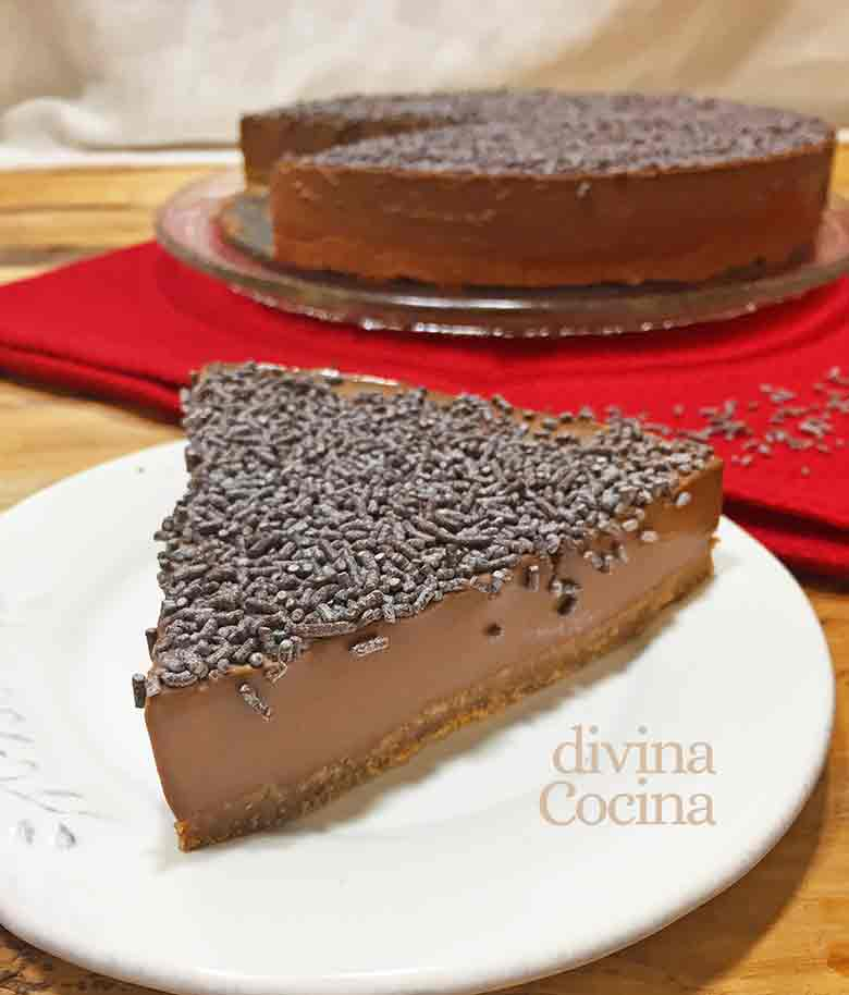 tarta de chocolate facil sin horno