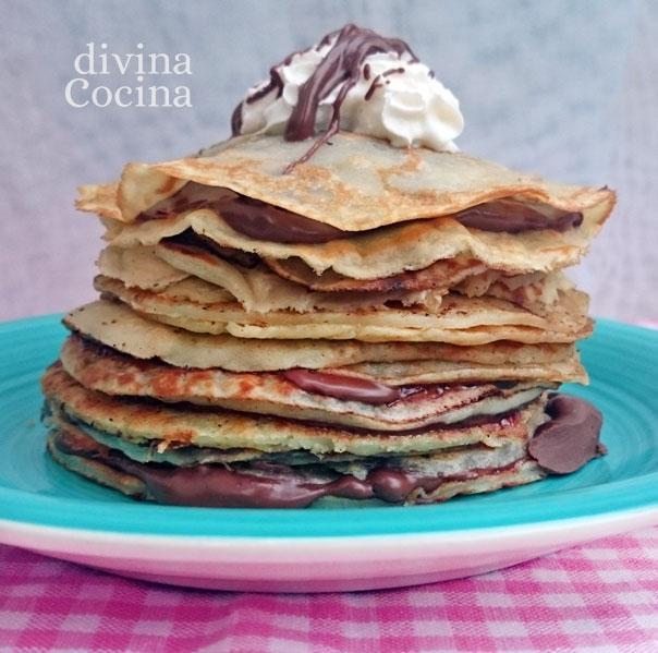 Tarta De Crepes Con Chocolate Receta De Divina Cocina