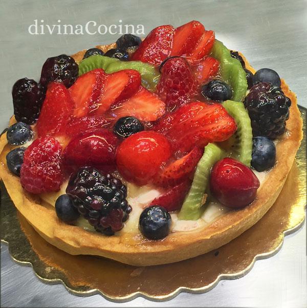 Tarta De Crema Con Frutas Receta De Divina Cocina