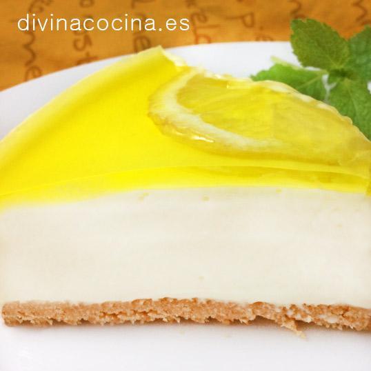 Tarta de queso y limón