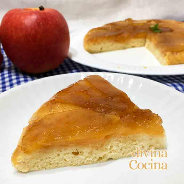 tarta de manzana a la sarten