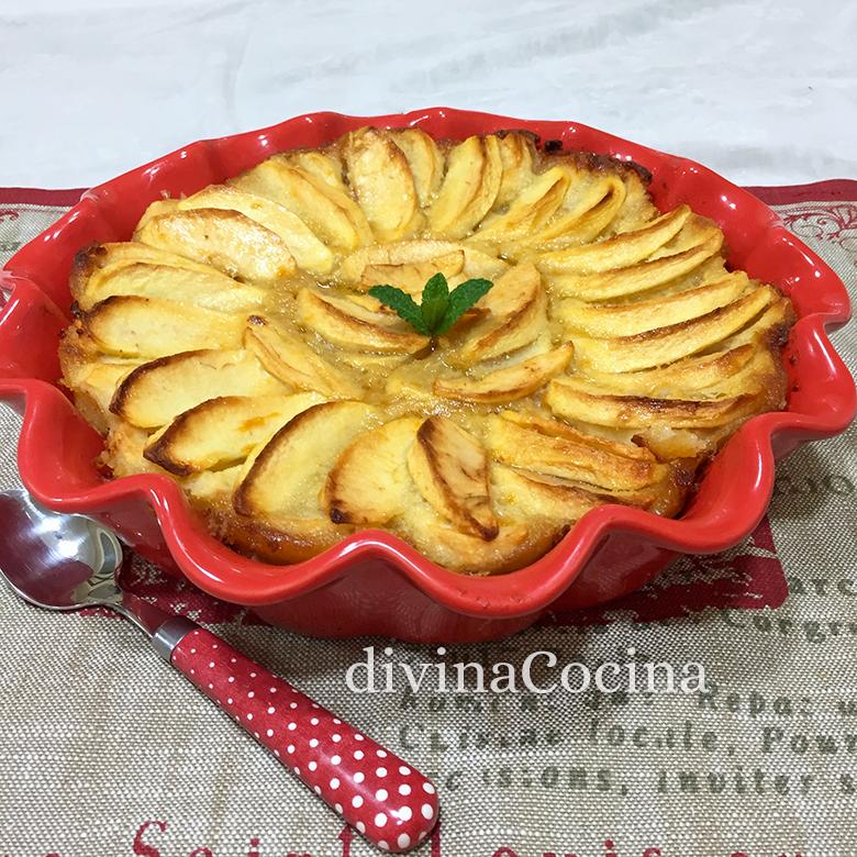 receta de tarta de manzana microondas