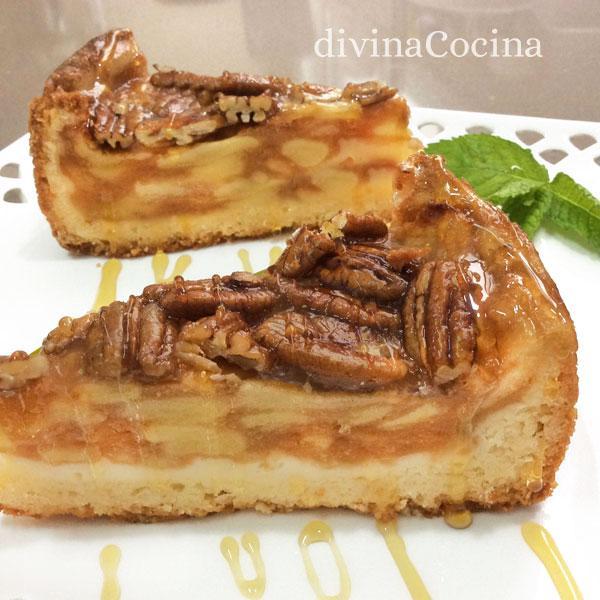 tarta de manzana y nueces