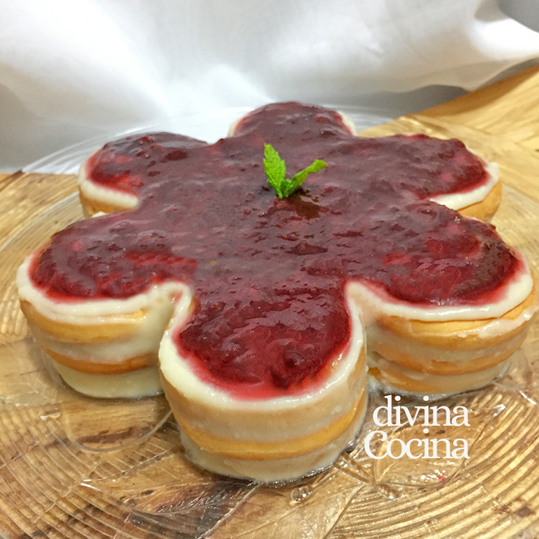 tarta de queso y galletas