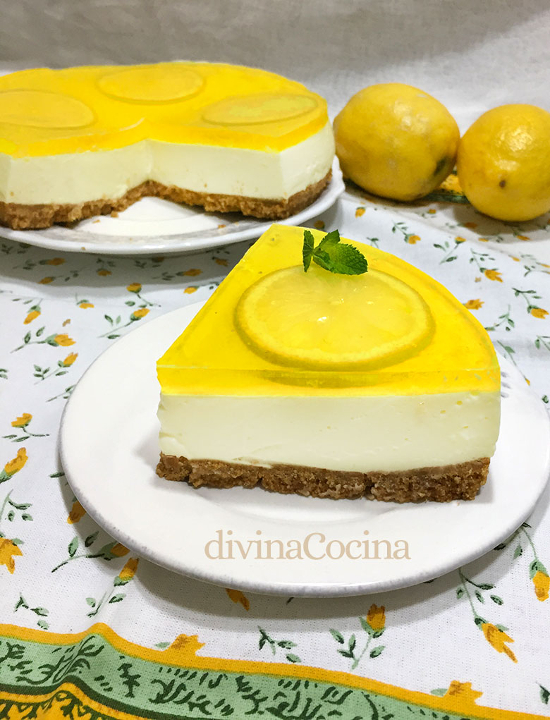 tarta de queso y limon