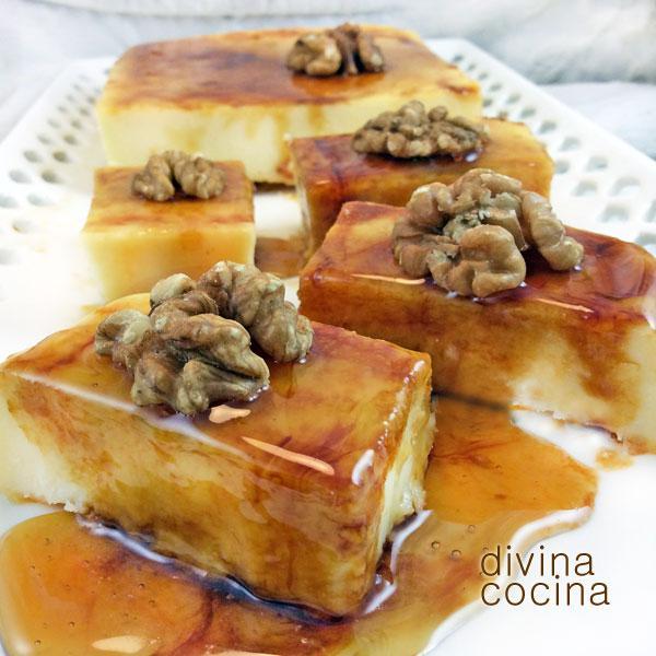 tarta de queso y miel