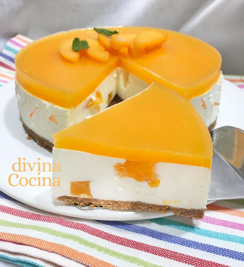 tarta de yogur melocoton