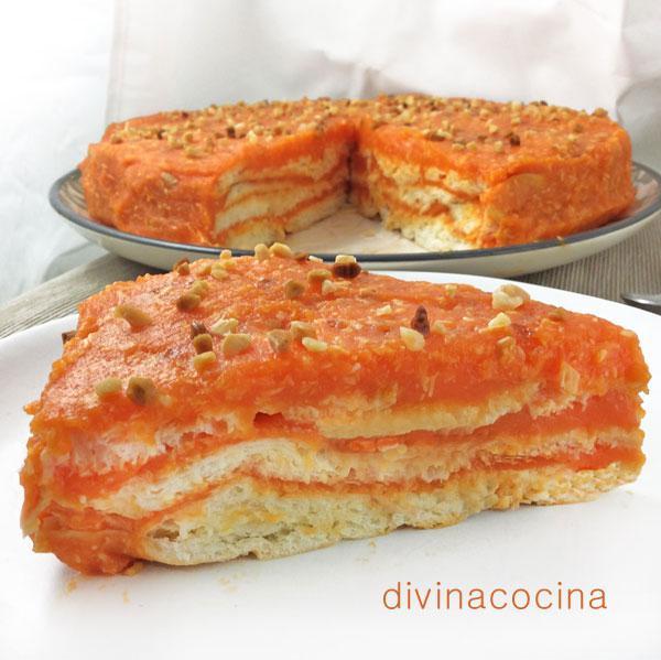 Tarta de zanahorias y coco