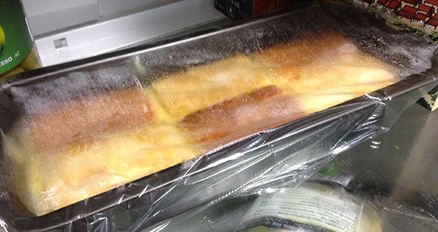 tarta flan bizcochos en la nevera