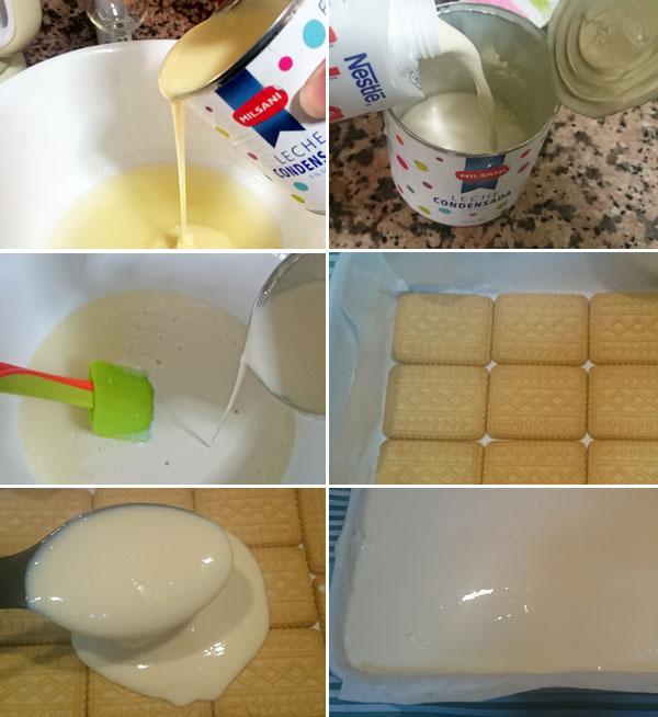 Tarta de galletas y limón paso a paso