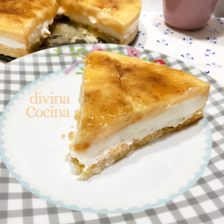 tarta goxua de crema y nata