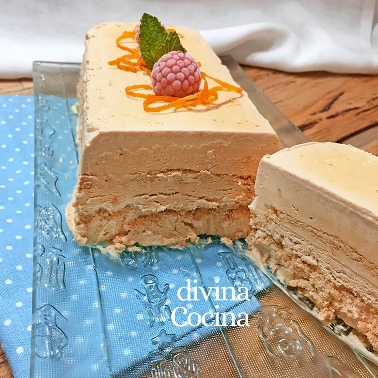 receta de tarta helada de dulce de leche